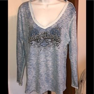 Harley Davidson women's top size XL - V neck - LS